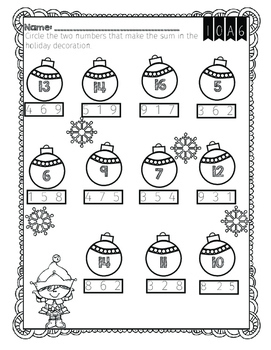 Winter Math and RELA Printables