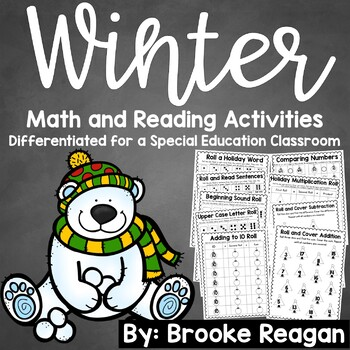 Winter Math and Reading Games: Differeneiated