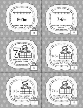 Winter Math and Subtraction Pack (Black, White and Gray) SAMPLER