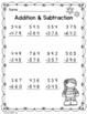 Winter Math for Second Grade Freebie