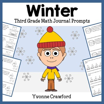 Winter Math Journal Prompts (3rd grade) - Common Core