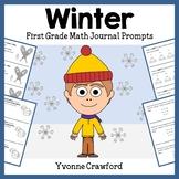 Winter Math Journal Prompts (1st grade) - Common Core