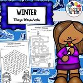 Winter Maze Worksheets