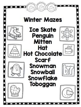 "Winter Mazes ""No Prep"""