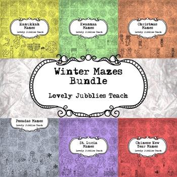 Winter Mazes Bundle: