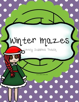 Winter Mazes: Print Ready
