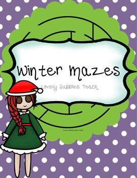 Winter Mazes: Print Ready