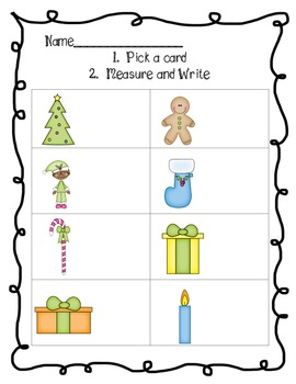 Winter Measurement Fun - Freebie