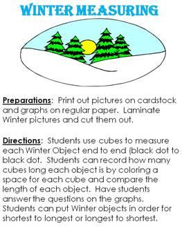 Winter Measuring - A non-standard measuring activity
