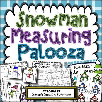 Winter Measuring --- Snowman Measuring Palooza Math Centers