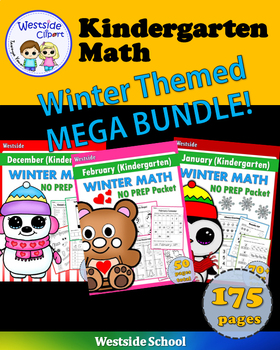 Winter Mega BUNDLE: Kindergarten Math {Westside}