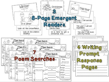 Winter Mega Poetry Pack!~ with daily Shared Reading Plans for K & 1