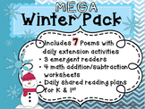 Winter Mega Poetry Pack!~ with daily Shared Reading Plans
