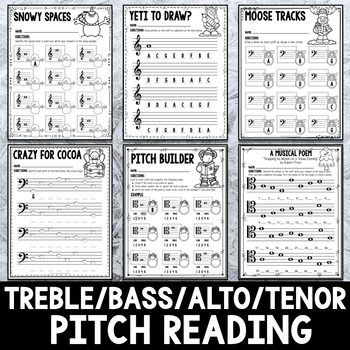 Winter Mega Pack of Music Activities- 77 Pages!