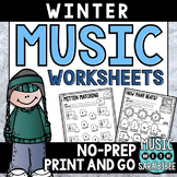 Winter Mega Pack of Music Worksheets