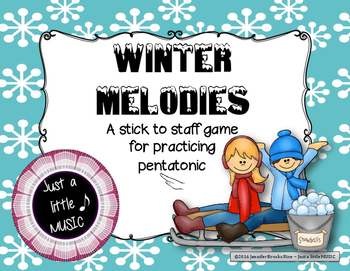 Winter Melodies - A stick to staff notation game for practicing pentatonic