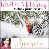 Winter Melody Matching Worksheets (printable and iPad ready!)