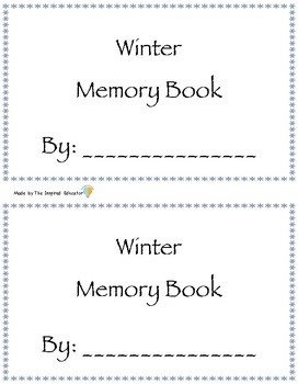Winter Memory Book