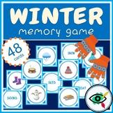 Winter Memory Game printable