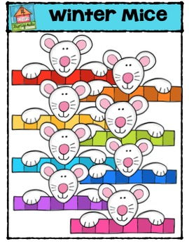 Winter Mice  (P4 Clips Trioriginals Digital Clip Art)