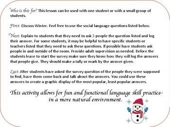 Winter Middle School High School Survey
