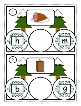 Winter Middle Sound/Short Vowel Practice {Missing Snowflake} Literacy Center