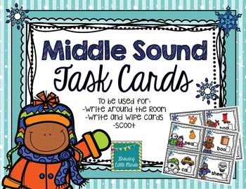 Winter Middle Sound Task Card Activities
