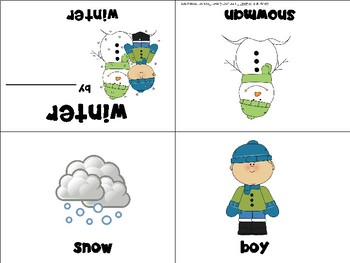 Winter Mini Books - ESL/ENL, Special Needs, Young Learners