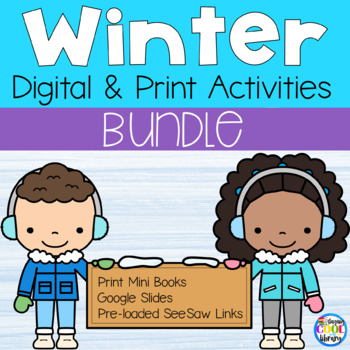 Winter Mini Books and Printables - Bundle