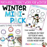 Winter Mini - Pack    {Math and Literacy}