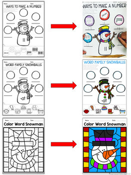 Winter Mini - Pack    {Math and Literacy}