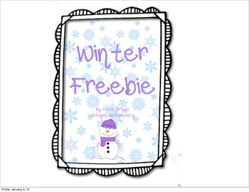 Winter Mini-Packet Freebie!