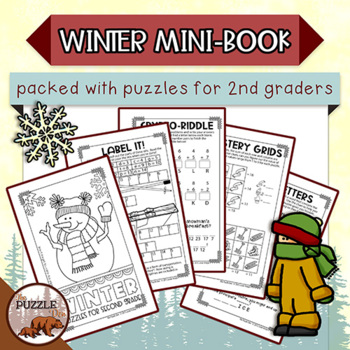 Winter Mini Puzzle Book for Second Graders