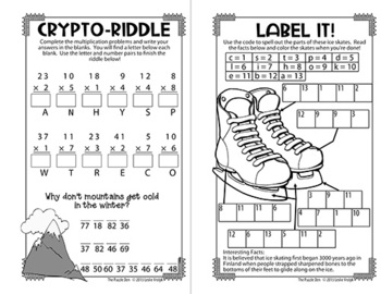 Winter Mini Puzzle Book for Third Graders