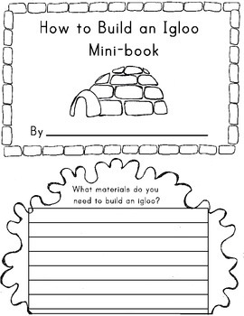 Winter Writing Activity {How to Build an Igloo!}