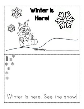 Winter MiniBook for Emergent Readers