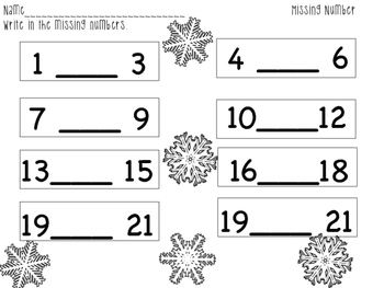 Winter Missing Number Center