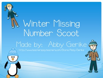 Winter Missing Number in Number Sentences Scoot