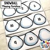 Winter Missing Number Task Cards