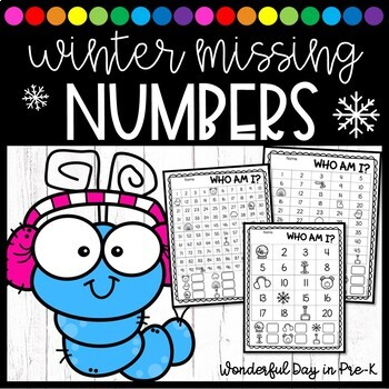 Winter Missing Numbers: Who Am I?