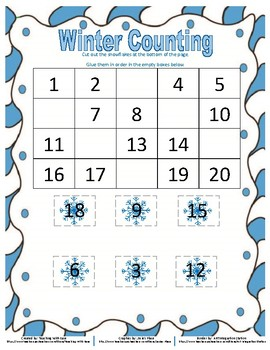 Winter Missing Numbers to 20
