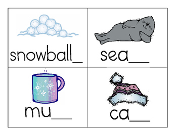 Winter Missing letters