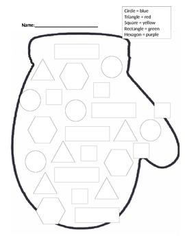 Winter Mitten 2D Shape Assessment