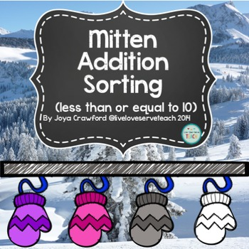 Winter Addition Sorting (to 10)