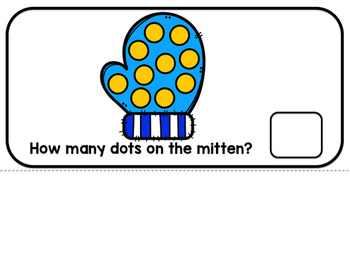 Winter Mitten Counting Adaptive Book (#1-10)