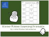Winter Mitten Counting Printable FREEBIE