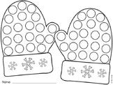 Winter Mitten Dauber Worksheet Free