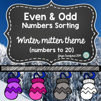 Even and Odd Numbers Game: Winter Theme
