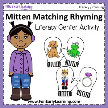 Winter Mitten Matching Rhyming