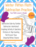 Winter Mitten Math: Subtraction Practice for Kindergarten-1st Grade